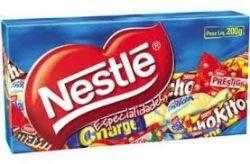 Caixa de chocolates recheados