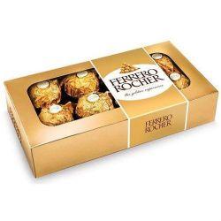 Caixa de Ferrero Rocher com 8 bombons