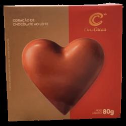 Coração de Chocolate ao leite - Cia do Cacau